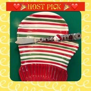Other - Holiday Appetizer cheese or cookie plate and knife